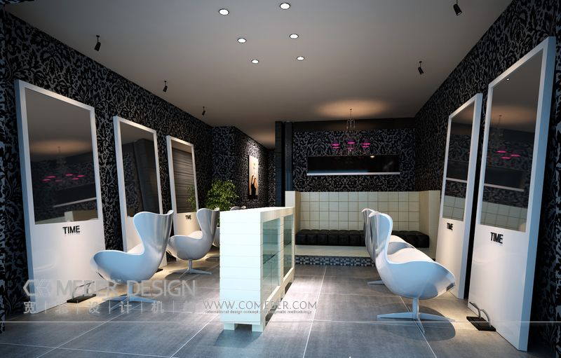 构 室内设计 木水 工装 现代风格 装修 实景 平面图 理发店高清图片